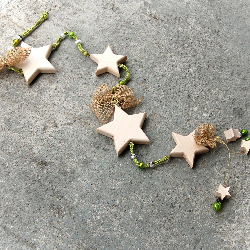 revená Girlanda Hviezdy – Natur-závesná girlanda-girlanda hviezdy