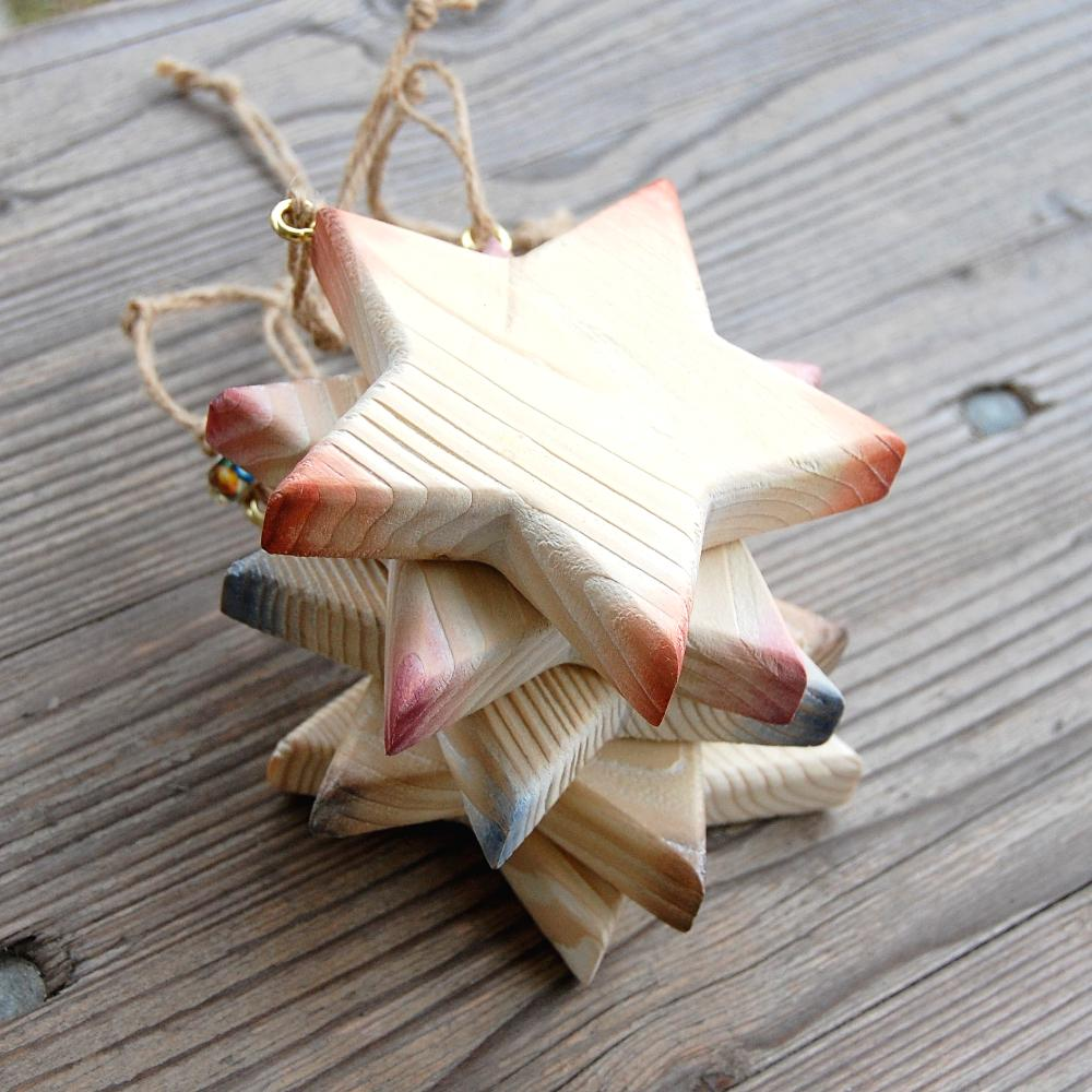 Plná Drevená hviezda -dekorácia drevená hviezda-vianočná dekorácia