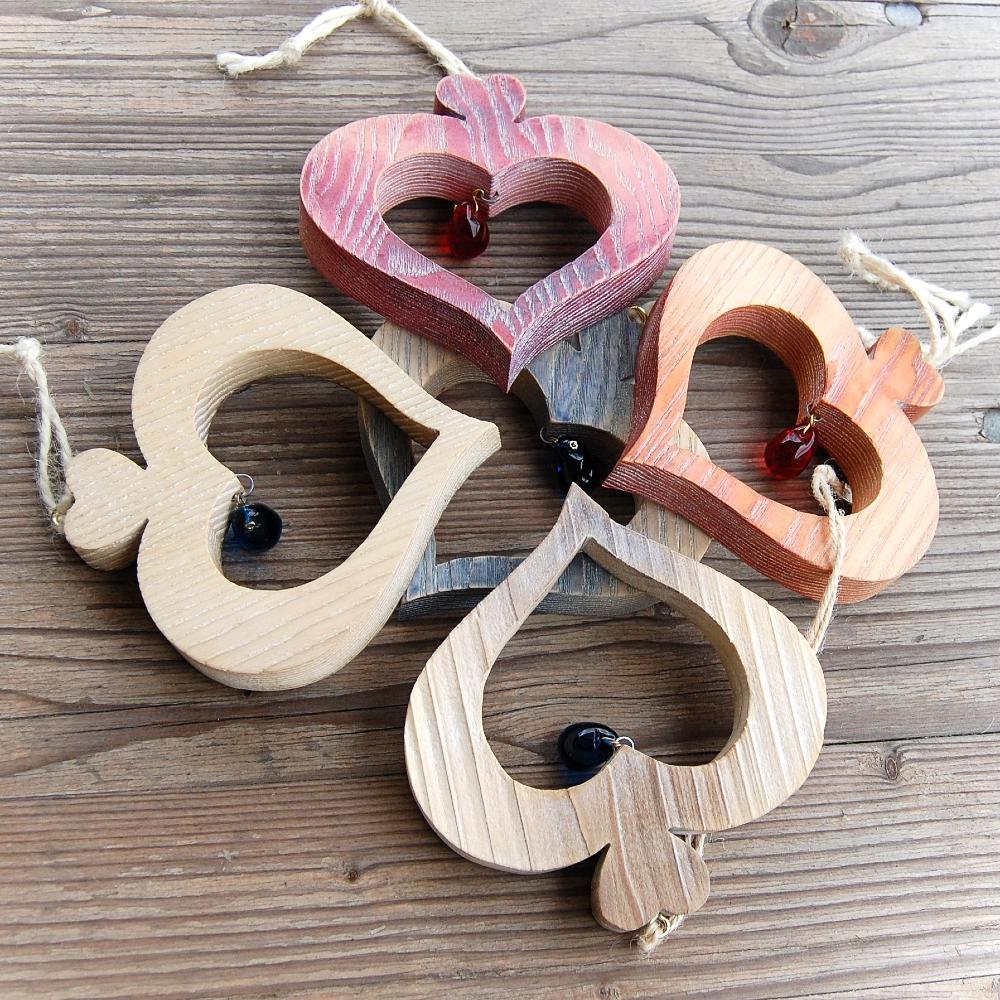 Tyrolské Drevené Srdce -drevené  Tyrolské srdce-dekorácia drevené srdce-darček pre ženy