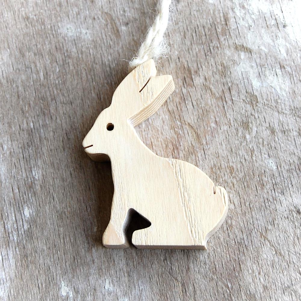 Drevený Zajačik-drevený zajac závesný-dekorácia zajac