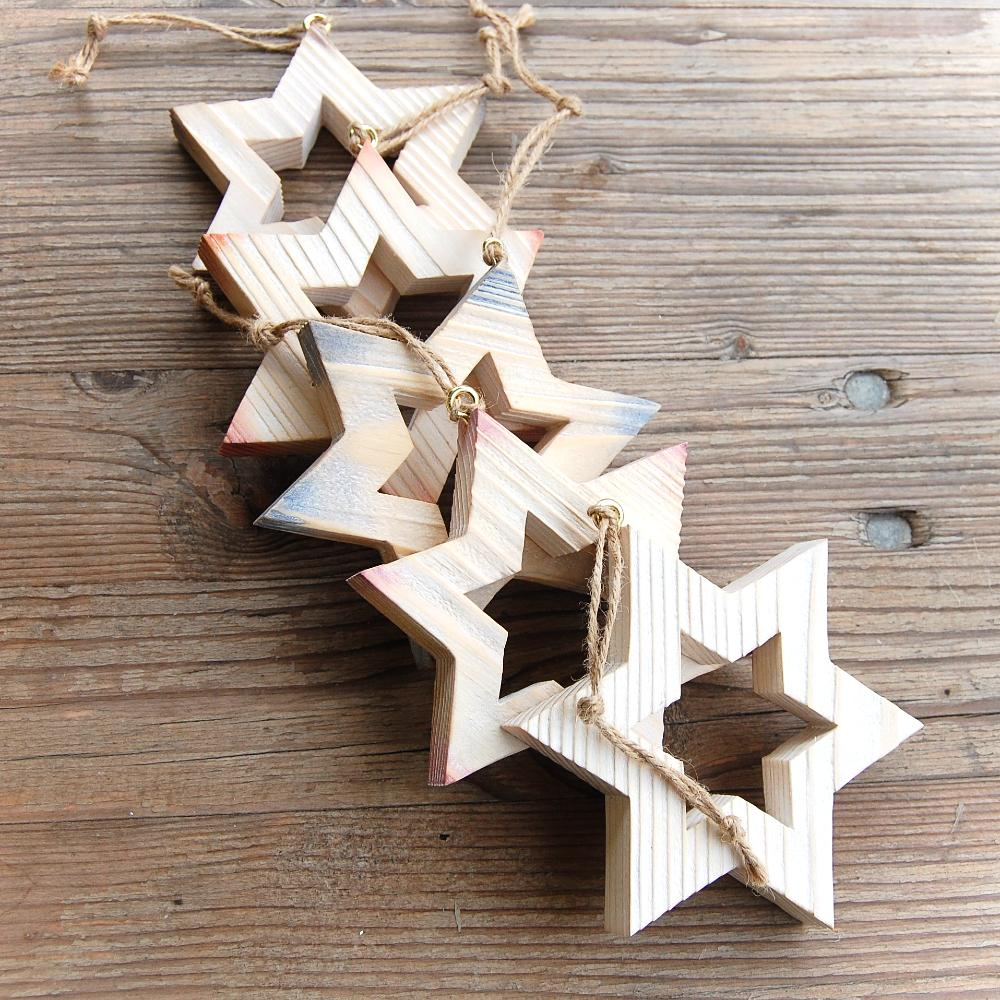 Drevená Hviezda Večernica-drevená hviezda-závesná dekorácia hviezda