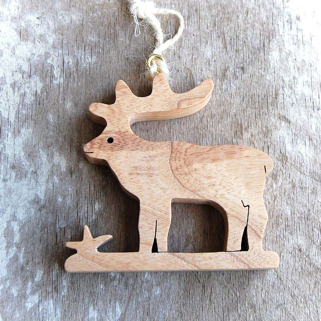 Drevený Jeleň -závesná dekorácia-darček pre poľovníkov