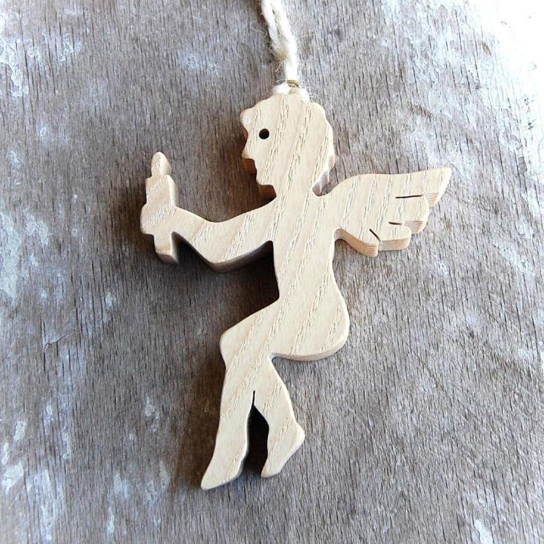 Drevený Anjel so sviečkou-anjel ozdoba-anjel dekoracia- vianočne dekorácie -strazny anjel