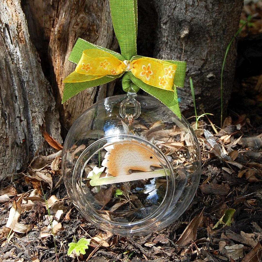 Luxusná Sklenená Guľa-darček k výročiu- valentínsky deň- darček pre ženy