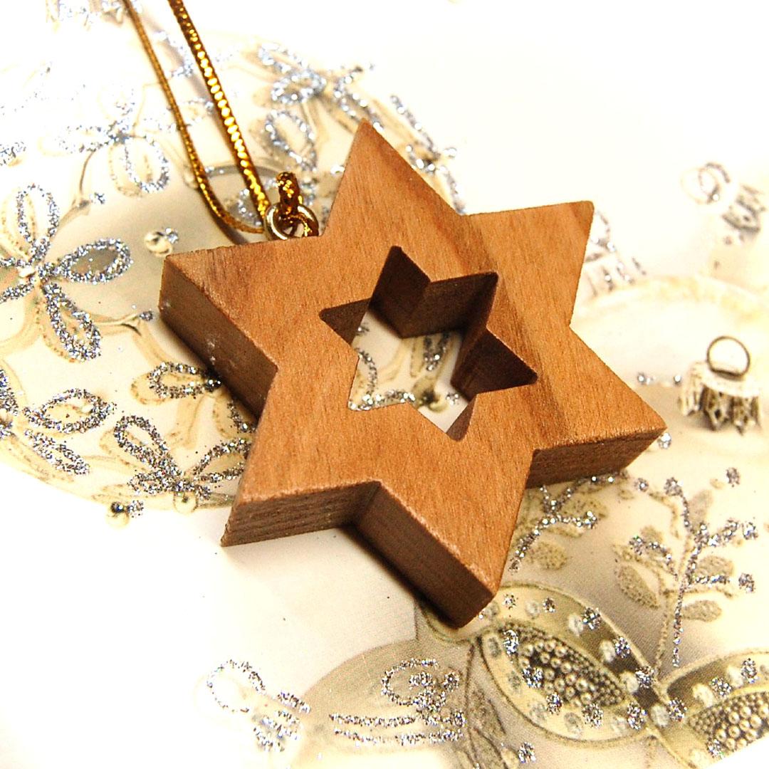 Drevena hviezda Luxusna Vianocna ozdoba