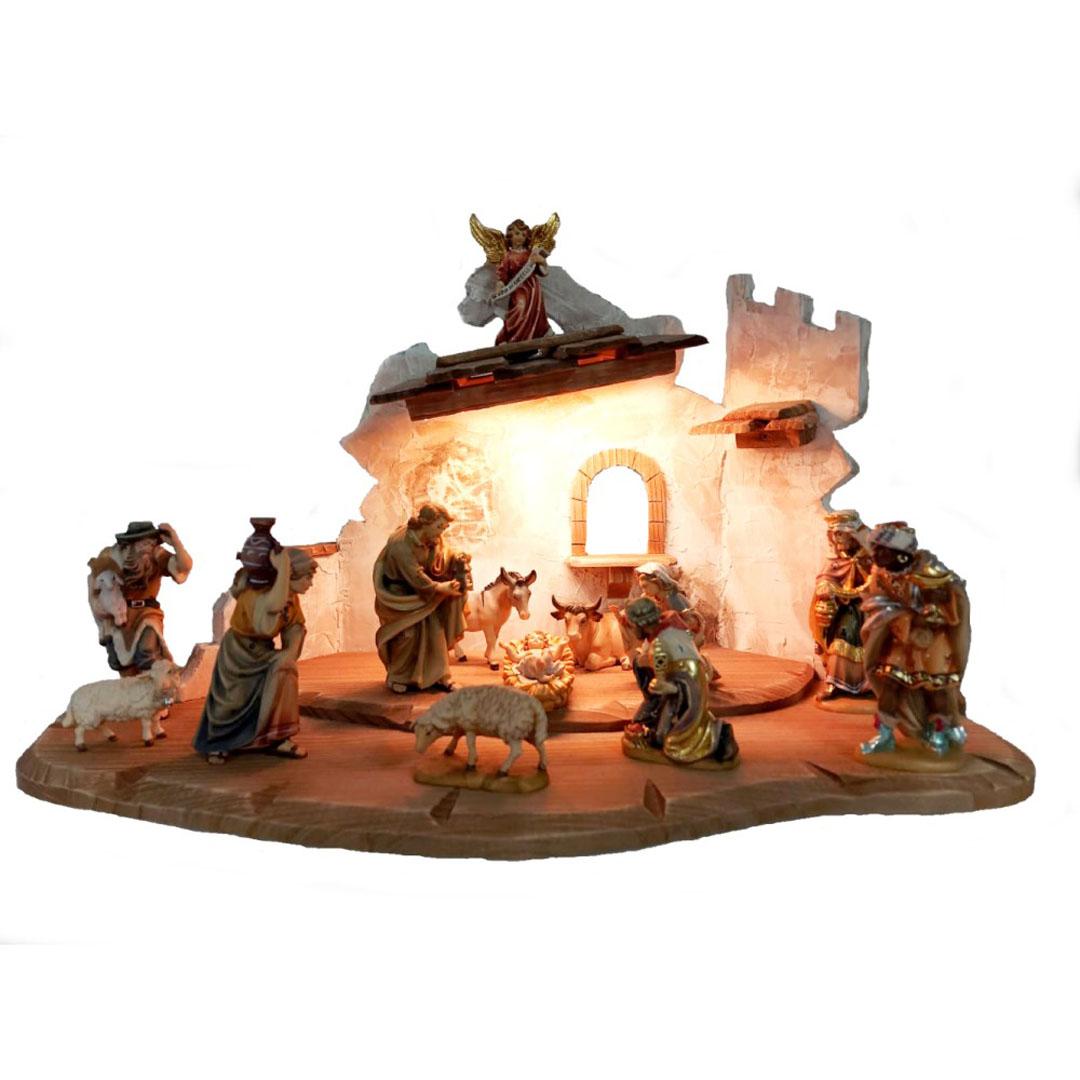 Barokovy Tradicny Vianocny dreveny Betlehem