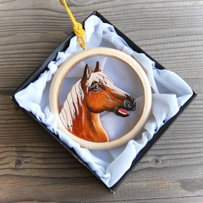 Wooden Horse Wall Hanging
