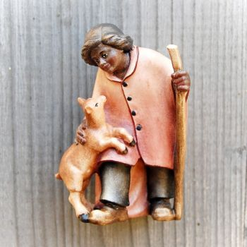 Shepherdess with Goat for wooden African Nativty Set